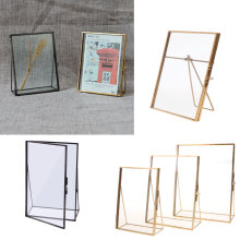 Marco de fotos de vidrio rectangular