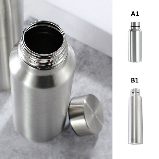 650ml/1000ml Stainless Steel Sport Water Bottle Single-layer Rugged Water Cup Camping Sports Gym Metal Flask Drinkware 2