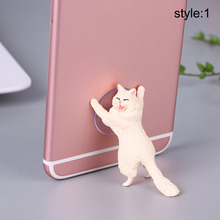 1 Pcs Cute Cat Phone Holder Universal Cellphone Tablet Stand Suction Cup Mobile Phone Mounts holder desktop suction cup design