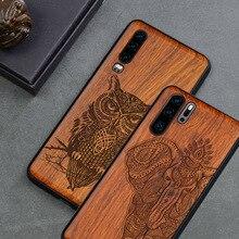 Étui pour Huawei téléphone bois P30 Lite P30 P20 Pro housse de luxe pour Huawei Honor 20 10 v20 9x mate 30 Pro housse étui mince en bois