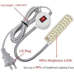 Супер яркая светодиодная подсветка для швейной машины 10/20 Вт, 30 Вт, светодиодный Многофункциональный «гусиная шея» Рабочая лампа для токарных станков, сверлильных станков, верстаки