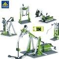 Строительные блоки Leduo KY1000 4 в 1  наборы строительных блоков для инженерной техники  блоки DIY  техническая серия обучения  совместимы