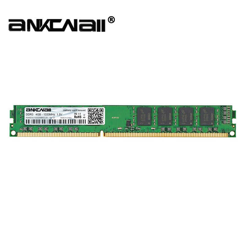 ANKOWALL Ram DDR3 8GB 4GB 2GB  1866MHz  1600Mhz 1333MHz  Desktop Memory with heat Sink  240pin 1.5V New dimm  ST AMD/intel  G41