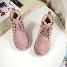 Новинка; зимние женские ботинки с шерстью; зимние ботинки на меху; Полусапоги из натуральной кожи; женские нескользящие водонепроницаемые теплые ботинки на плоской подошве