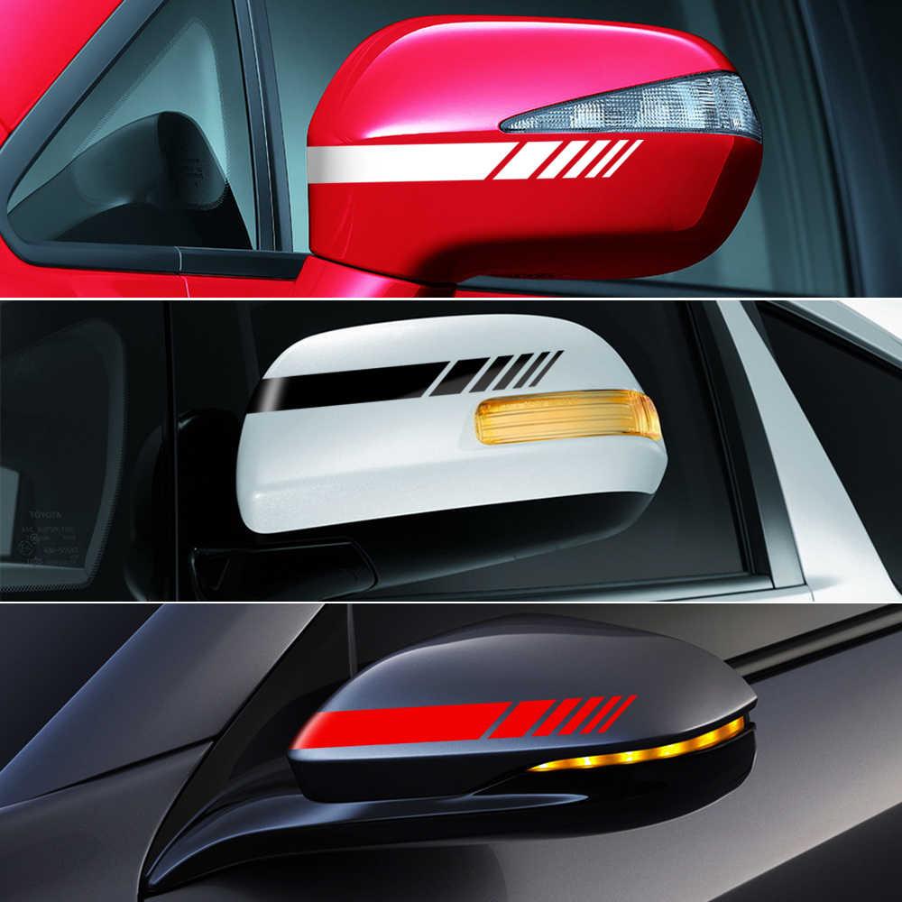 Sisi Belakang Cermin Stripes Vinil Stiker Mobil Stiker untuk Mercedes Benz W205 W204 W212 W117 W176 W213 Edition 1 AMG Gaya
