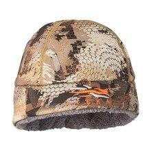 2020 חורף כובע גברים סיטקה כפה ציד הסוואה החם ביותר Windstopper Primaloft רך פרווה סיטקה כובע איש ספורט תרמית אחת גודל