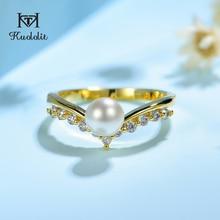Kuololit 100% モアッサナイト 10 18kイエローゴールドリング女性のためのラウンド本物のホワイト新鮮なため婚約結婚式の花嫁ギフト