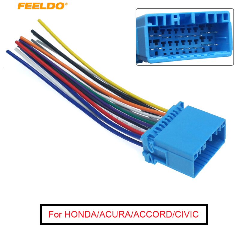 aftermarket stereo wiring harness feeldo 1pc car aftermarket audio radio stereo wiring harness for  radio stereo wiring harness