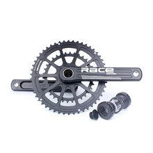 Bike Crank Road Race Bike 50-34T Mountain Bicycle Crankset 170mm Aluminum Alloy Crank Square Hole 52-36T Speed Chainwheel