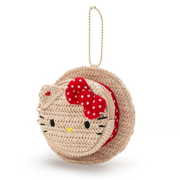 New Style Cartoon Cute Yu Gui Gou Cat Straw Hat Shape Purse Pendant