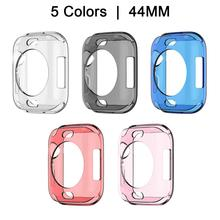 New Protective Case For Apple Watch IWatch Series 4 Thin TPU 360 Degree Transparent Shell Cover 40MM 44MM