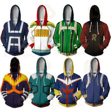 Mijn Hero Academia Rits Hoodie Mannen Vrouwen 3D Gedrukt Hero Academia Alle Misschien Cosplay Kostuum Sweatshirt Schooluniform Jassen