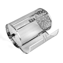 Stainless Steel Rotisserie Oven Basket for Roasting Baking Nuts Coffee Beans Peanut BBQ Grill Roaster  Oven Parts Baking-Large