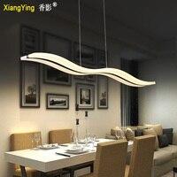 Nowoczesna/współczesna funkcja Chrome do Led akrylowy wisiorek światło salon/sypialnia/jadalnia jadalnia hanglamp w Wiszące lampki od Lampy i oświetlenie na