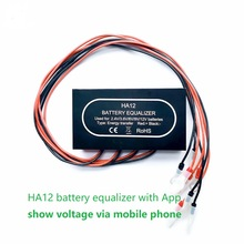 Battery-Pack Equalizer Voltage HA12 Solar with App Can Show Via Mobile-Phone for 4x