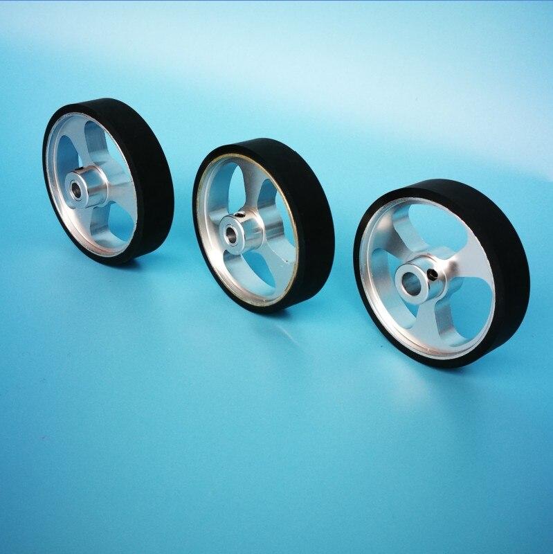 Encoder Wheel, Measuring Wheel, Meter Wheel, Robot Wheel, Aluminum Alloy CNC Processing, Rubberized Wear