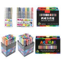8/12/15 cores caneta marcador de tinta acrílica marcação detalhada para diy álbum x6hb