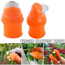 Silicone Thumb Knife Finger Protector Vegetable Harvesting Knife Plant Blade Scissors Separator Cutting Rings Garden Gloves