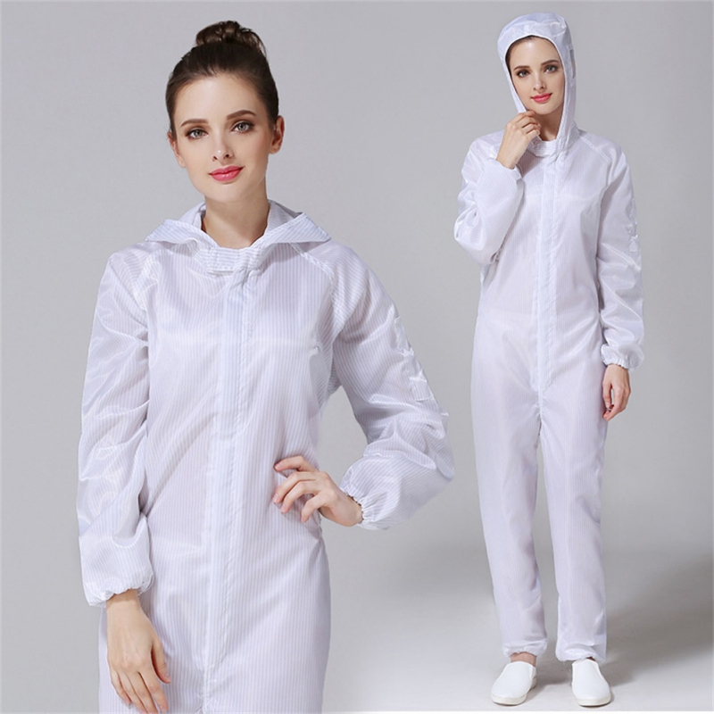 1 Suit Reusable Protective Clothing Isolated From Human Contact Dust-proof Anti-static S-3XL