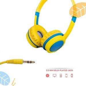 Image 2 - 3.5 مللي متر سماعات سماعات للأطفال سلامة قابل للتعديل سماعة الموسيقى ستيريو سماعات مع ميكروفون ل PC ملحقات الهاتف المحمول