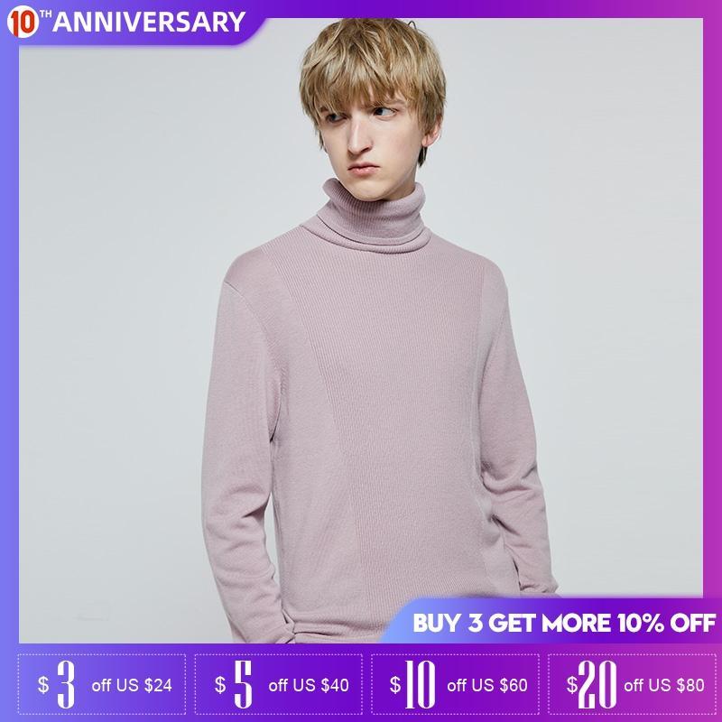 Jack Jones Autumn And Winter High-neck Woolen Knit Sweater |219324525
