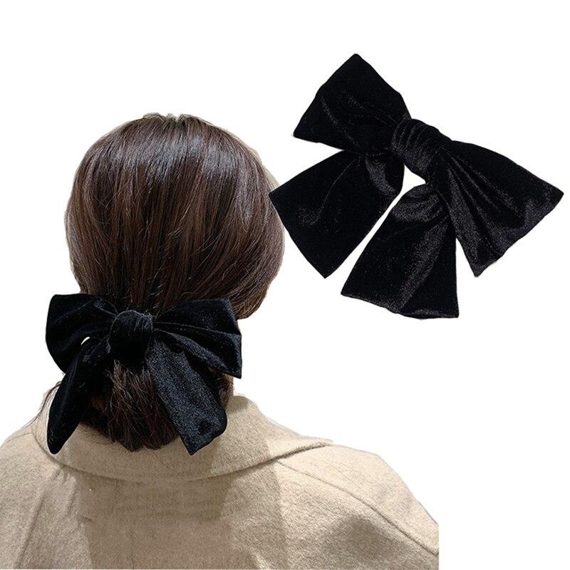 Fashion Women Girls Sequins Big Bowknot Barrette Hairpin Hair Clips Hair Bow bn