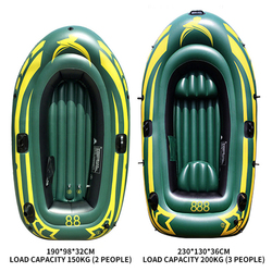 3 osoby nadmuchiwana łódka rybacka pcv grube odporne na zużycie odporna guma kajaka kajak wioślarstwo łodzi powietrza drifting surfing nurkowanie łódź łódź gorąca