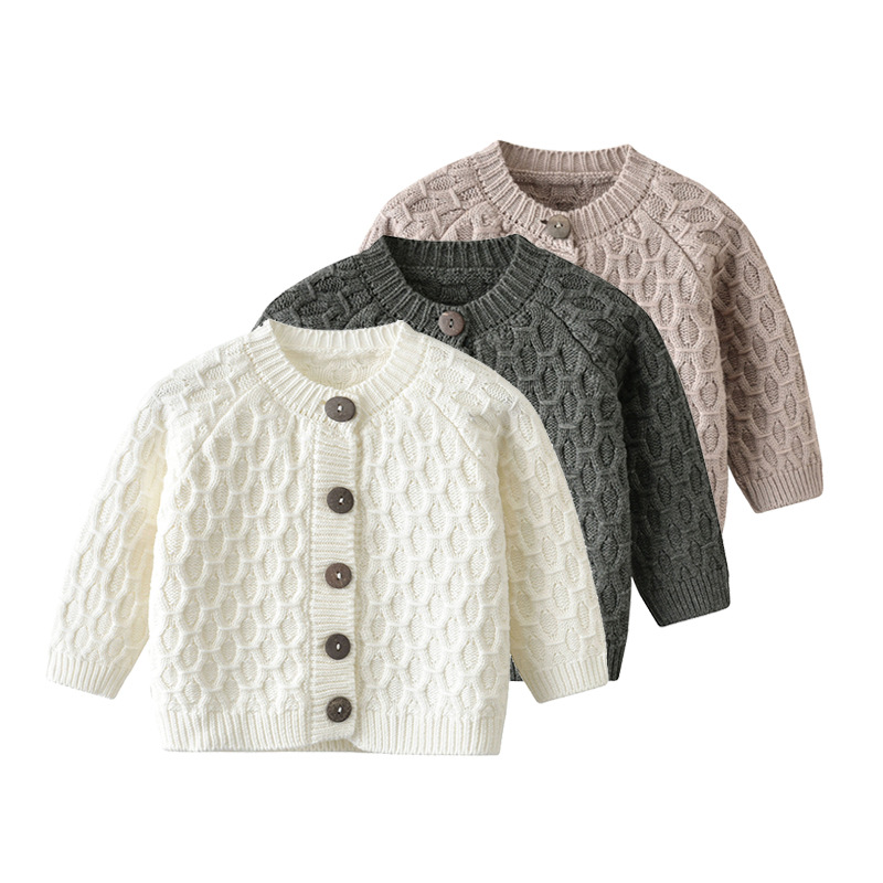 Kids Baby Girls Winter Jumpers Cardigans Clothes Button Knitted Sweater Coat Top