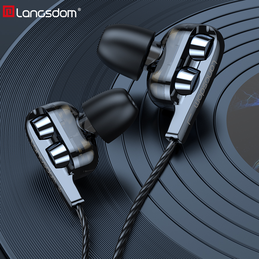 Langsdom Headphone Sport Earphones 3 5mm for Huawei xiaomi Gaming Headset Super Bass with Mic Stereo Hifi Earbuds fone de ouvido