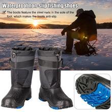 Уличные зимние рыбацкие сапоги; Waders; охотничьи сапоги для рыбалки; Caza; зимняя водонепроницаемая обувь; нескользящие ботинки для кемпинга со Стальными Гвоздями