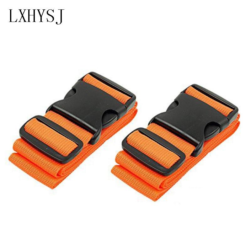 Travel Luggage Strap Adjustable Suitcase Belt Nylon One Word Packing Belt Security Burglar Luggage With Travel Accessories