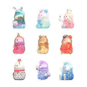 Caja para persianas MUKA, muñeco transparente, decoración hecha a mano, juguete de regalo, 8 estilos