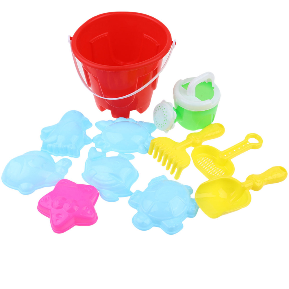 1 Set 10pcs Kids Beach Toys Water Toys Set Funny Sand Toys For Kids Toddlers Chilren (Assorted Color)