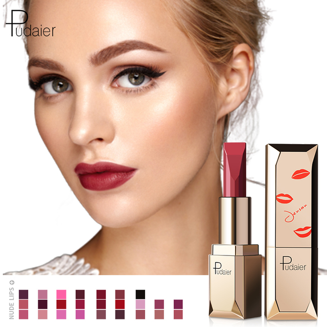 Pudaier 26Colors Matte Lipstick Waterproof Makeup Batom Nude Velvet Long Lasting Lapiz Labial Mate Lip stick Rouge a Levres Mat 1