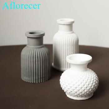 3D Mini wazon formy Diy aromaterapia tynk formy silikonowe formy instrukcja cementu formy DIY wazon formy forma do doniczek tanie i dobre opinie 3D Mini Vase Mould silicone