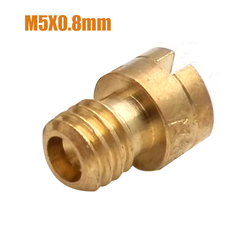 Motorcycle Carburetter 5mm Main Jet Round Head M5X0.8mm Size 60-112 For Carb Carburetor 125cc 150cc 152QMI 157QMJ Scooter Moped