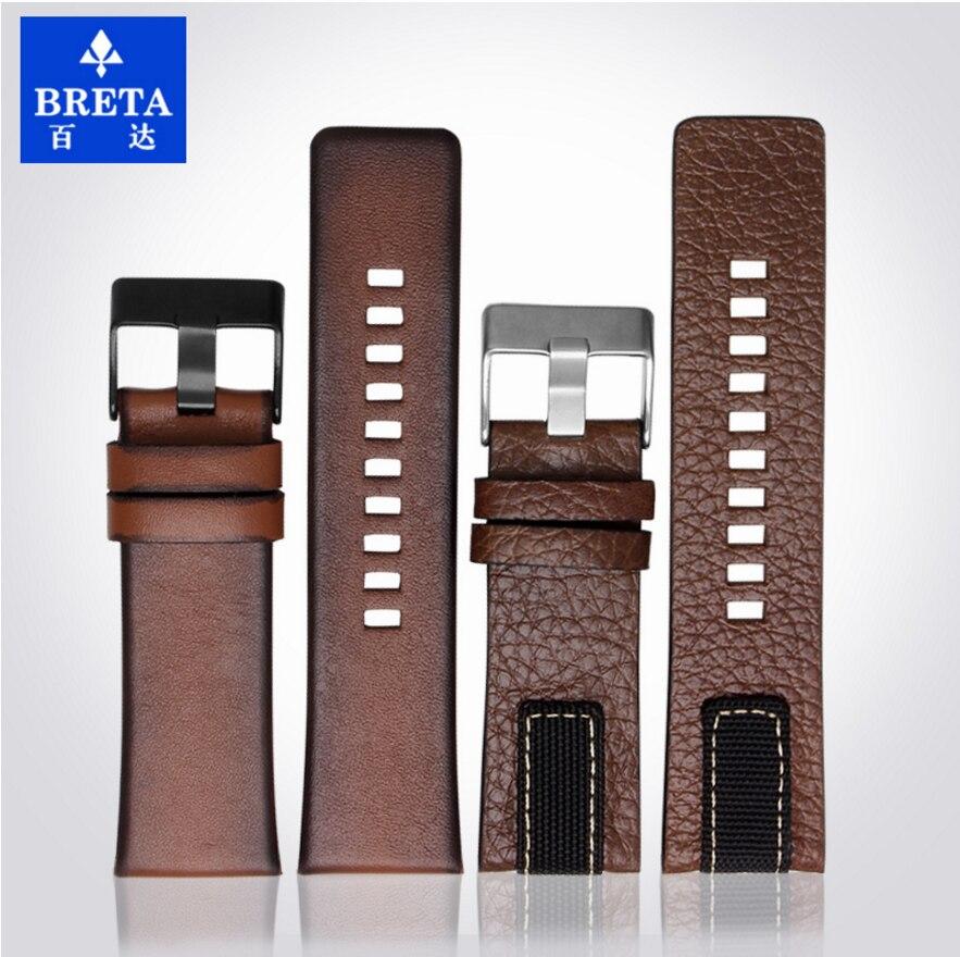 BRETA حزام ساعة اليد جلدية ل الديزل ل DZ4318 DZ4283 DZ4281 DZ4323 DZ7343 26 مللي متر حزام (استيك) ساعة سوار الرجعية