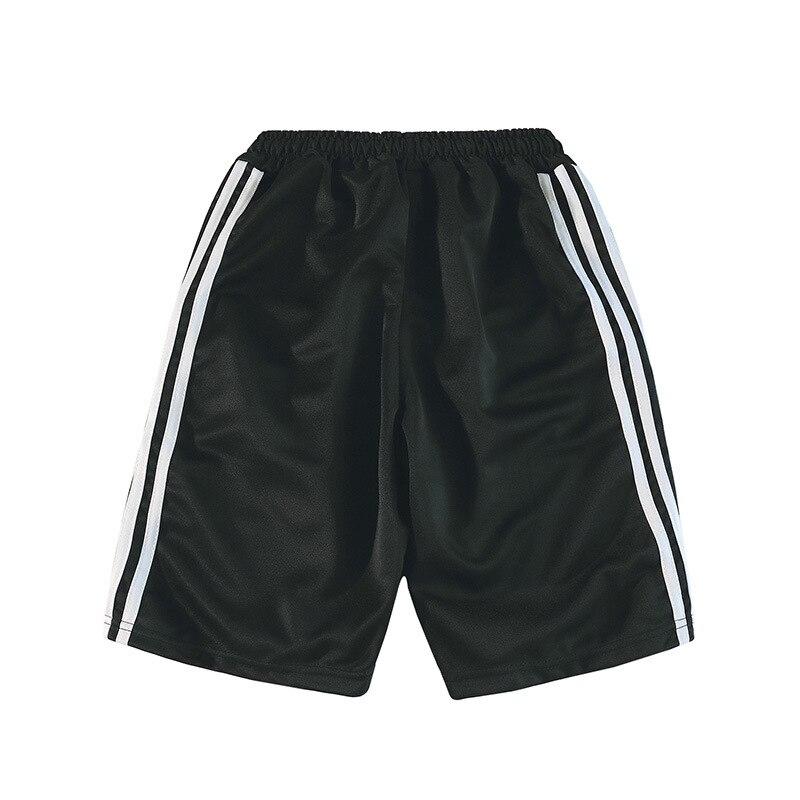 Three Bars Athletic Pants Shorts Men Summer Thin Shorts Pure Cotton Beach Shorts Loose Casual Stripes Shorts Fashion