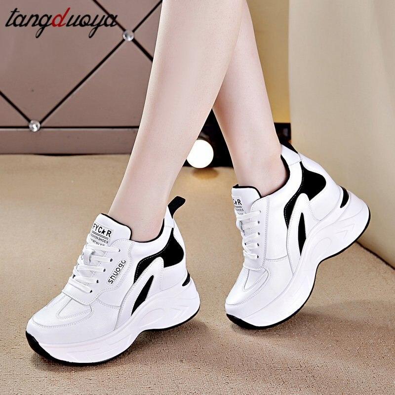 Белая спортивная обувь для женщин 2020 модный папа обувь baskets femme на толстой платформе; Женские кроссовки спортивная обувь