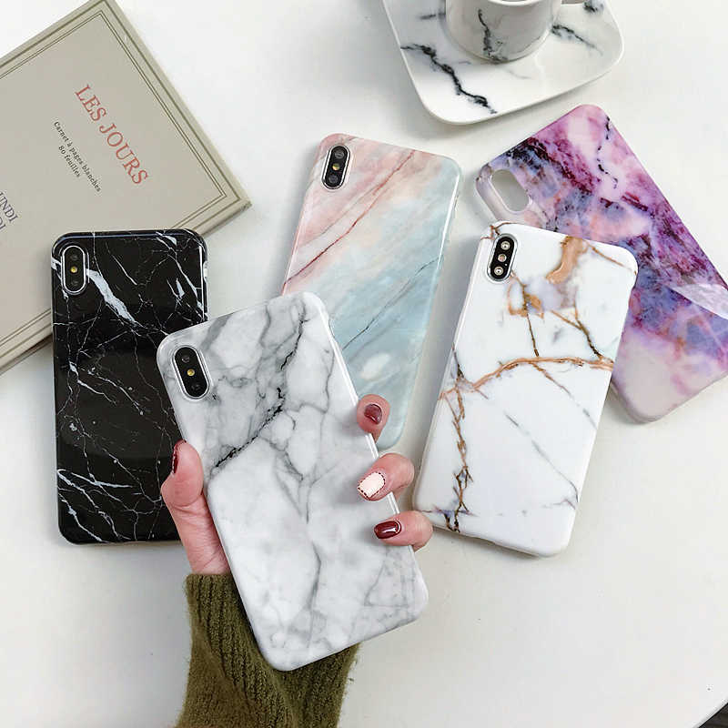 Silicon Marble Case for Samsung S10 Plus Phone Case for Etui Samsung A50 A70 A20 A30 A6 A9 A7 2018 for Galaxy S7 S8 S9+ Note 8 9