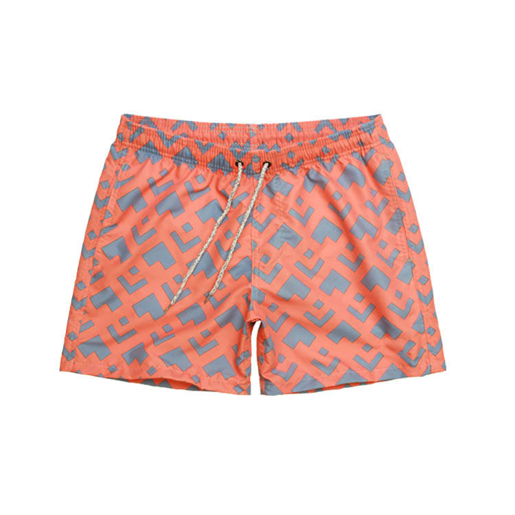 Rhyme Quick-Dry Beach Shorts Men's Loose-Fit Thailand Holiday Sports Printed Four Shorts Large Size Beach Shorts Men's