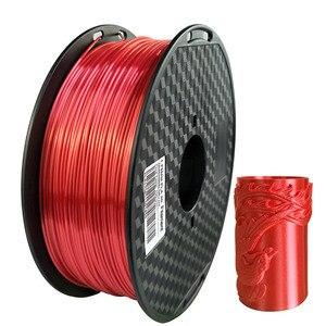 Image 2 - 1.75ミリメートルシルクplaフィラメント250グラム光沢のある金属のような0.25キロ黒赤など19色シルク3Dプリンタフィラメントdiyアートワーク印刷