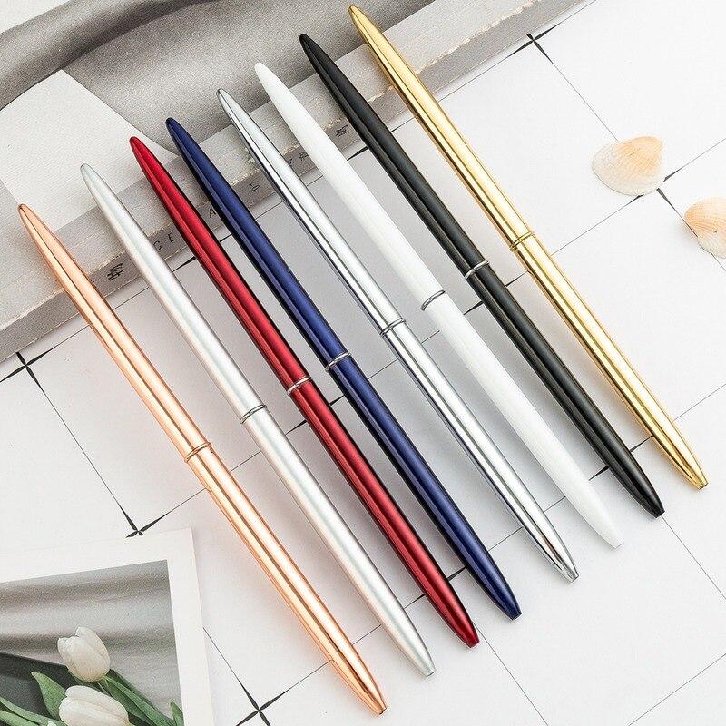 Роскошный Металлический Шариковая офисная деловая ручка рекламы изготовленная на заказ подарочные канцелярские товары из розового золота...