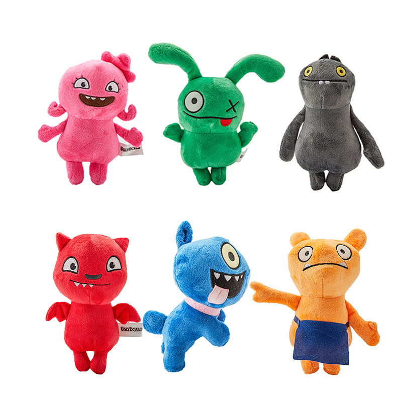 18 CM 6 Styles Uglydoll Plush Toy Cartoon Anime Ox Moxy Babo Uglydog Soft Stuffed Plush Dolls Ugly Gifts For Children Kids