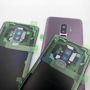 Image 2 - S9 الزجاج الأصلي لسامسونج غالاكسي S9 plus G960 G965 عودة غطاء البطارية الباب الخلفي الإسكان + لاصق الغراء مقاوم للماء