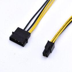 2 pçs/lote 4 pinos ide molex para placa-mãe 4 pinos p4 cpu adaptador de alimentação cabo