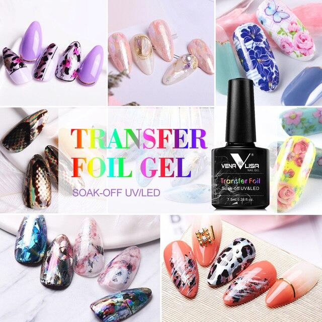 Venalisa Foil Transfer Gel Easy Apply Nail Art Design Manicure Enamel Gel Polish UV LED Gel Nail Polish Lacquer Varnish Foil 2