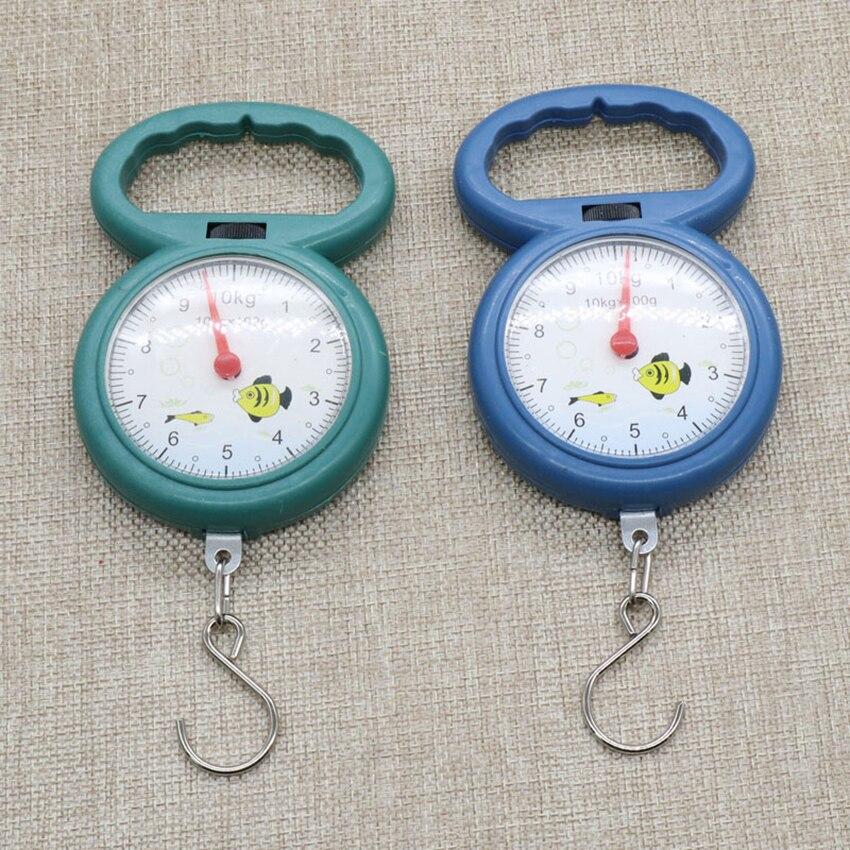 Портативные весы с крючком для рыбалки, максимальный вес 10 кг-1