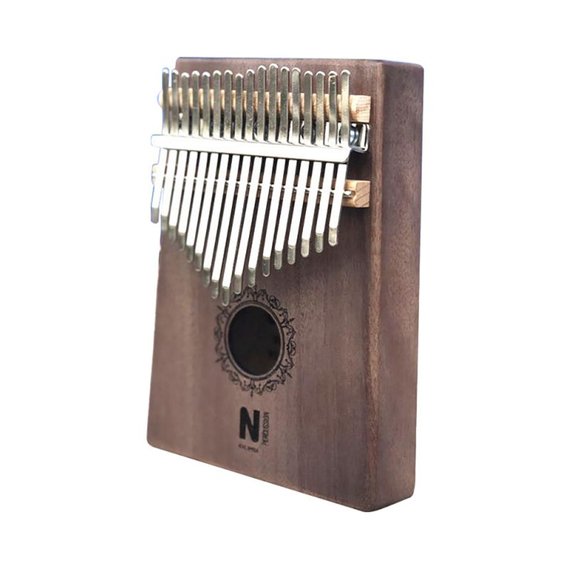 17 Keys Kalimba Thumb Piano High Quality Portable Cartoon Pattern Wooden Mahogany Body Musical Instrument