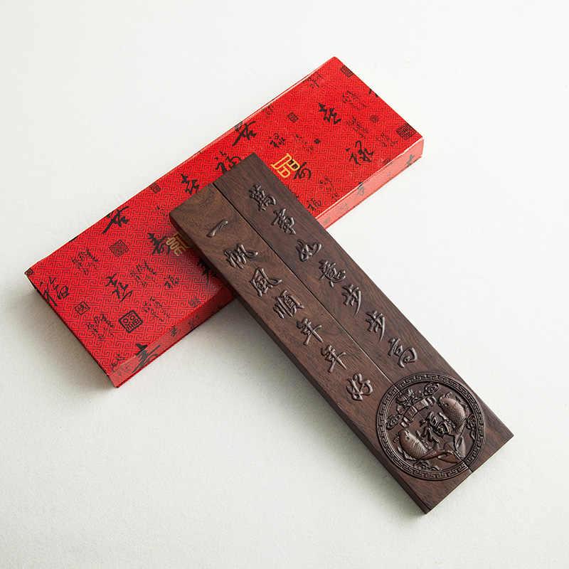 Briefbeschwerer Massivholz 2cps Chinesische Kalligraphie Spezielle Briefbeschwerer Traditionellen Carving Handwerk Holz Briefbeschwerer Papier Drücken
